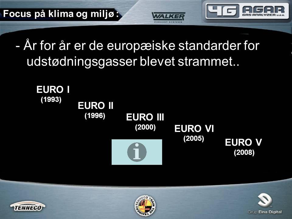 - År for år er de europæiske standarder for udstødningsgasser blevet strammet..
