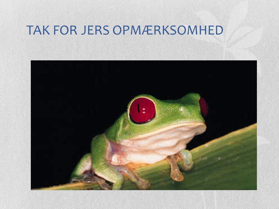 TAK FOR JERS OPMÆRKSOMHED