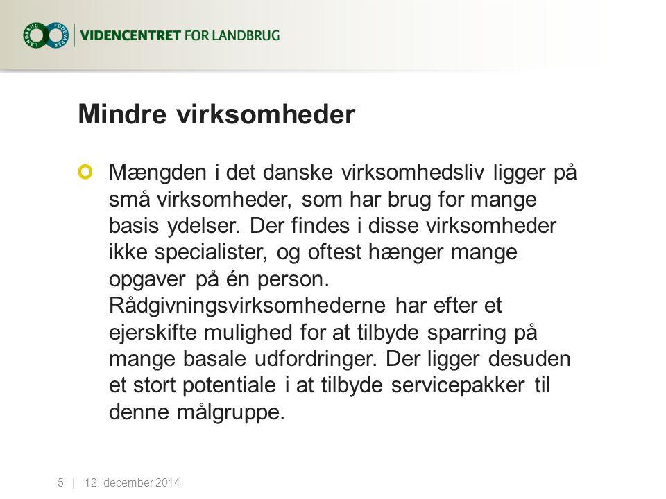 Mindre virksomheder Mængden i det danske virksomhedsliv ligger på små virksomheder, som har brug for mange basis ydelser.