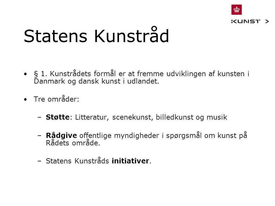 Statens Kunstråd § 1.