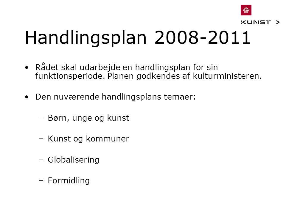 Handlingsplan 2008-2011 Rådet skal udarbejde en handlingsplan for sin funktionsperiode.