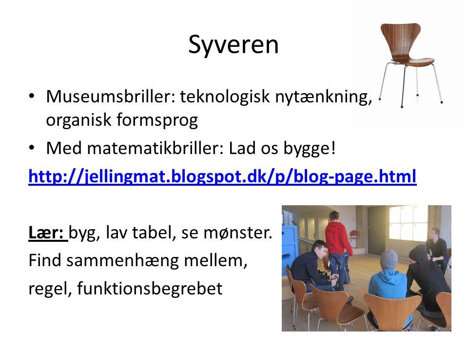 Syveren Museumsbriller: teknologisk nytænkning, organisk formsprog Med matematikbriller: Lad os bygge.