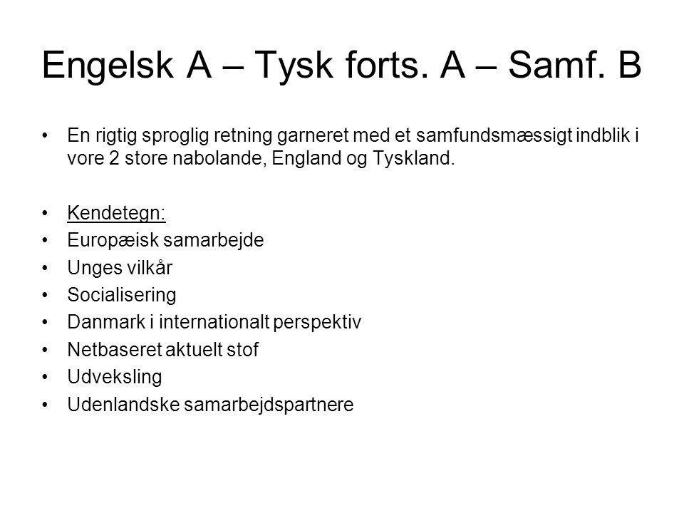 Engelsk A – Tysk forts. A – Samf.
