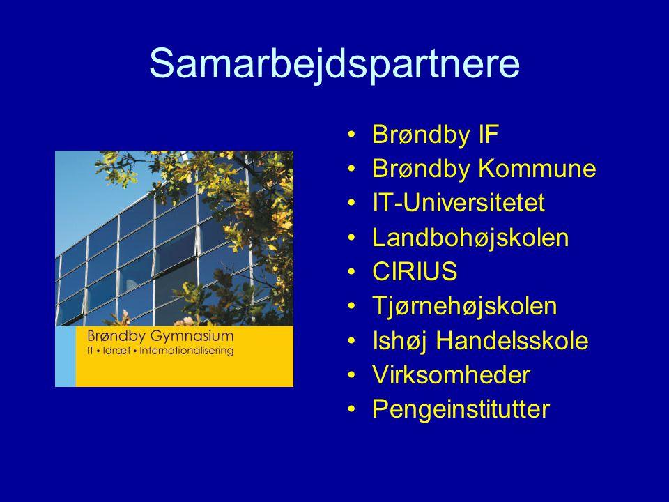 Samarbejdspartnere Brøndby IF Brøndby Kommune IT-Universitetet Landbohøjskolen CIRIUS Tjørnehøjskolen Ishøj Handelsskole Virksomheder Pengeinstitutter
