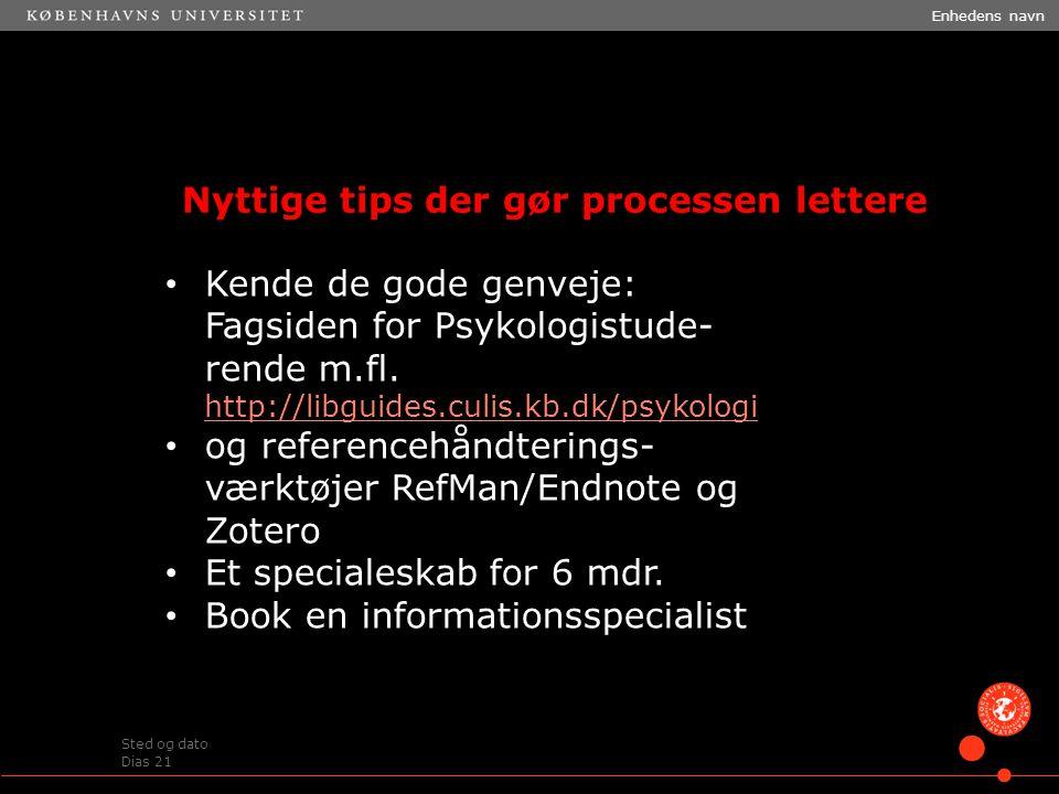For at ændre Enhedens navn og Sted og dato : Klik i menulinjen, vælg Indsæt > Sidehoved / Sidefod .