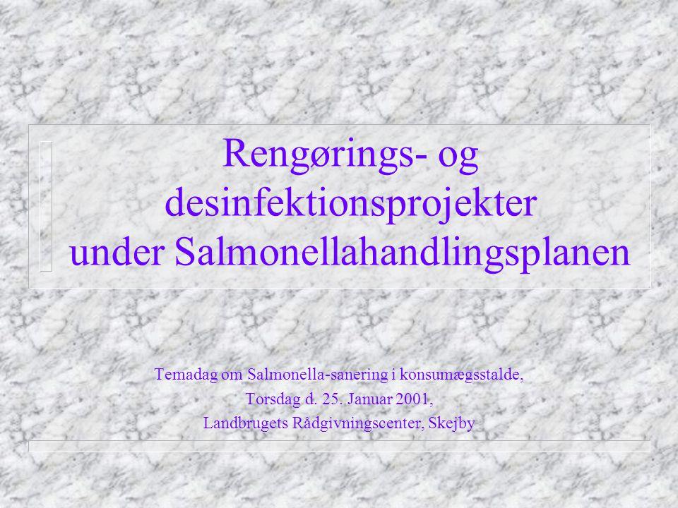 Rengørings- og desinfektionsprojekter under Salmonellahandlingsplanen Temadag om Salmonella-sanering i konsumægsstalde, Torsdag d.