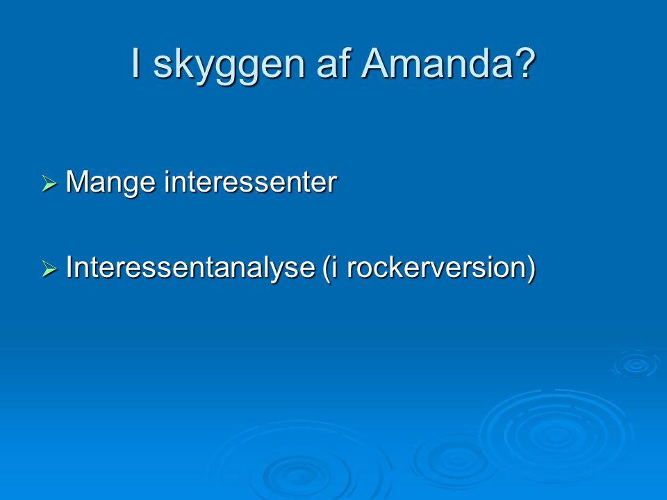 I skyggen af Amanda  Mange interessenter  Interessentanalyse (i rockerversion)