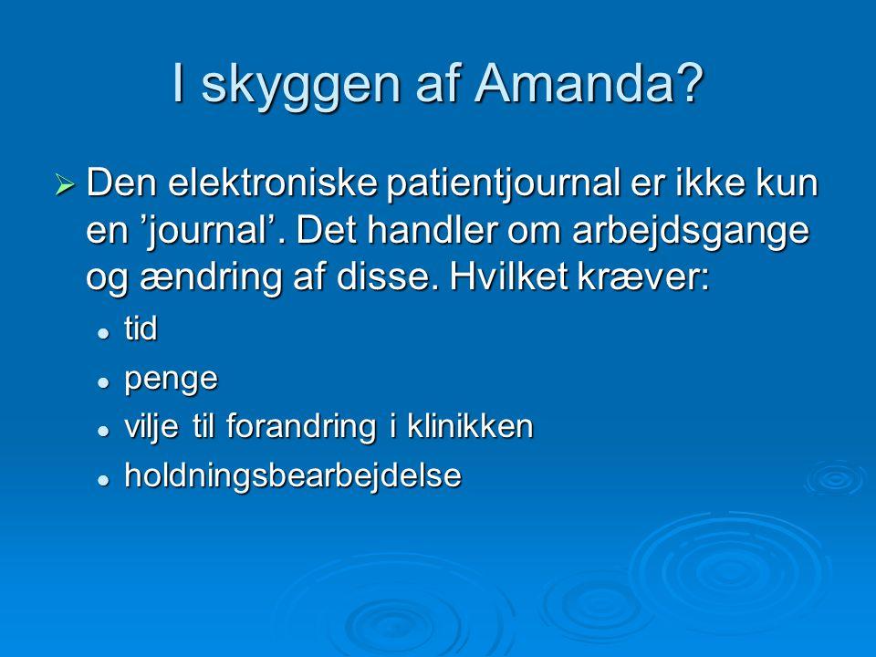 I skyggen af Amanda.  Den elektroniske patientjournal er ikke kun en 'journal'.