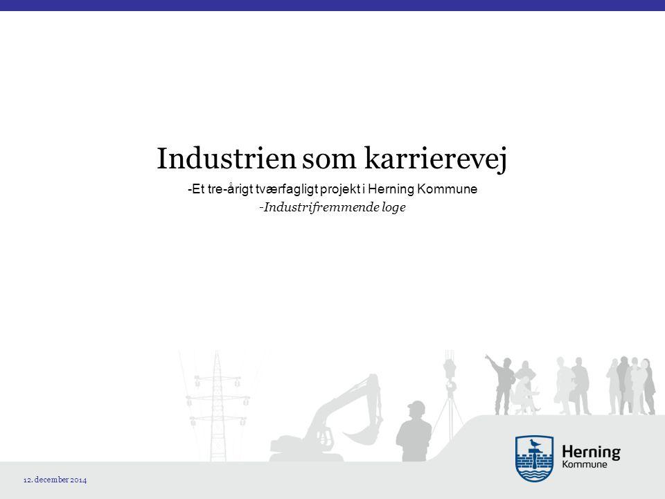 Industrien som karrierevej -Et tre-årigt tværfagligt projekt i Herning Kommune -Industrifremmende loge 12.