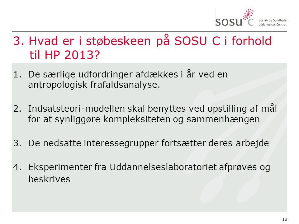 3. Hvad er i støbeskeen på SOSU C i forhold til HP 2013.