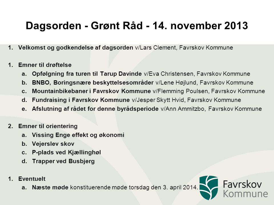 Dagsorden - Grønt Råd - 14.