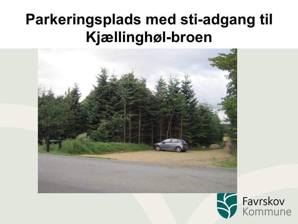 Parkeringsplads med sti-adgang til Kjællinghøl-broen