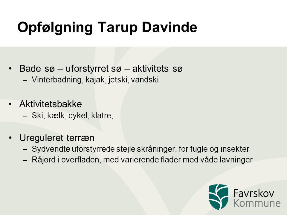 Opfølgning Tarup Davinde Bade sø – uforstyrret sø – aktivitets sø –Vinterbadning, kajak, jetski, vandski.
