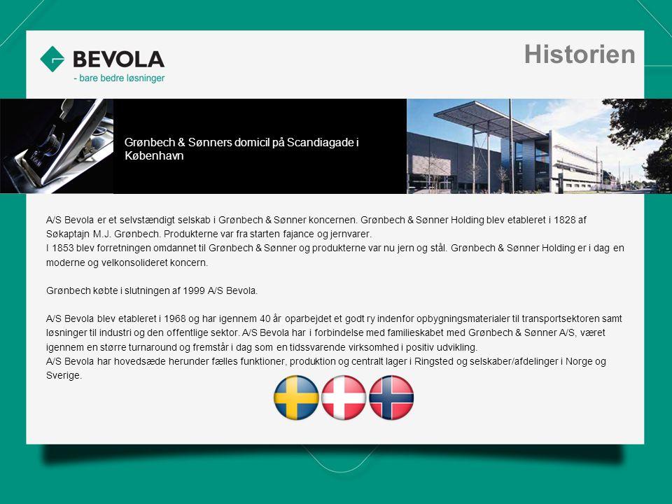 History A/S Bevola er et selvstændigt selskab i Grønbech & Sønner koncernen.