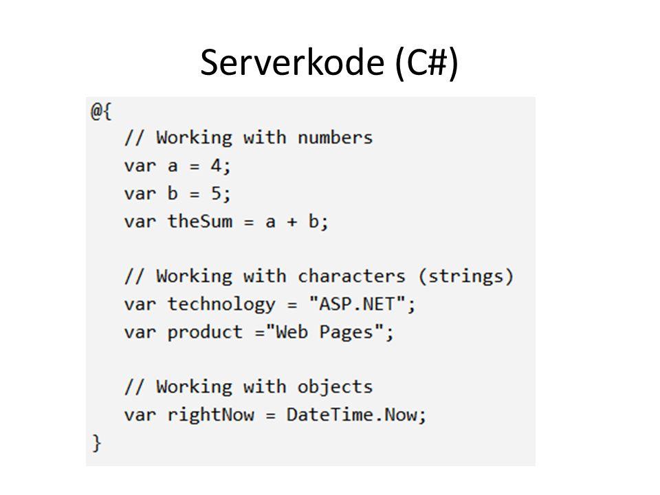 Serverkode (C#)