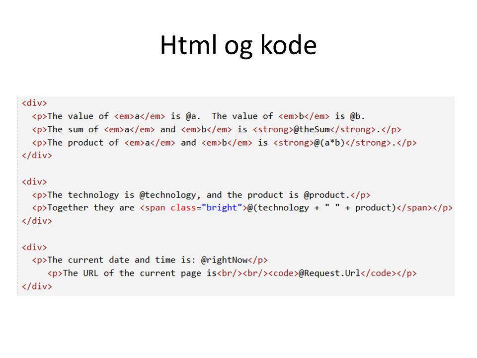 Html og kode