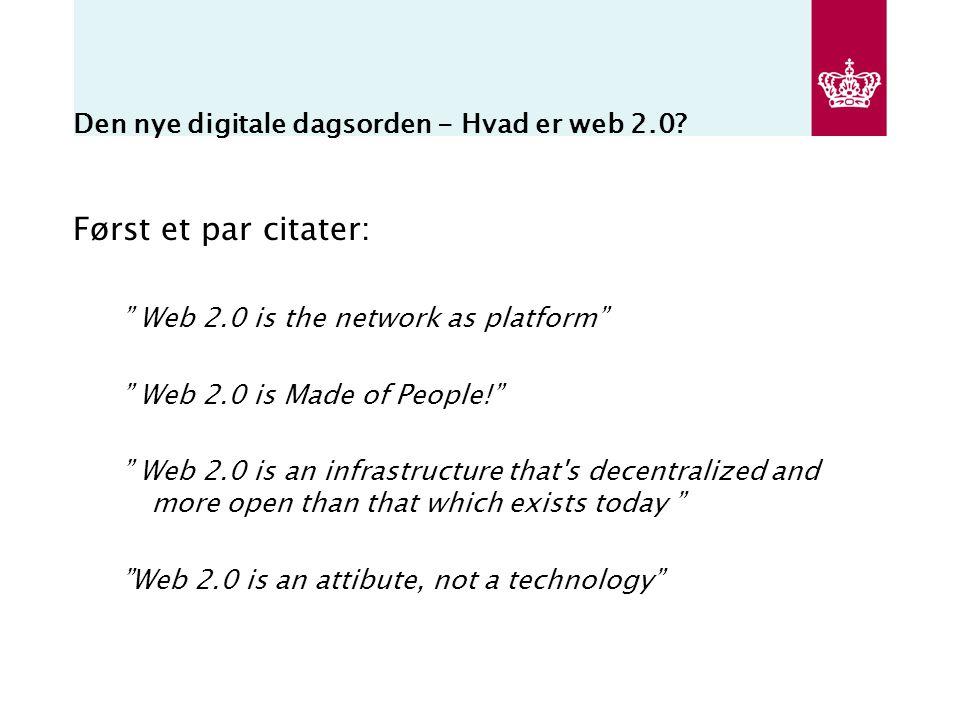 Den nye digitale dagsorden - Hvad er web 2.0.
