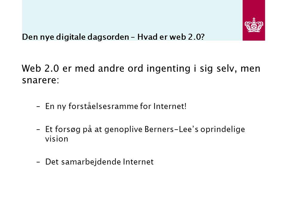 Den nye digitale dagsorden – Hvad er web 2.0.