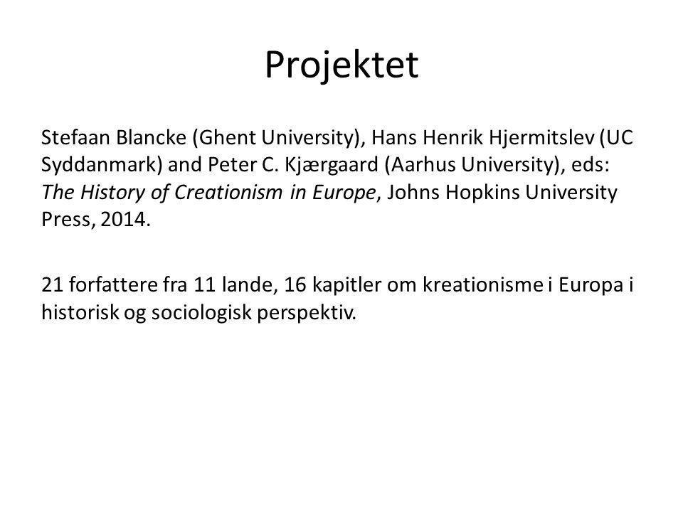 Projektet Stefaan Blancke (Ghent University), Hans Henrik Hjermitslev (UC Syddanmark) and Peter C.