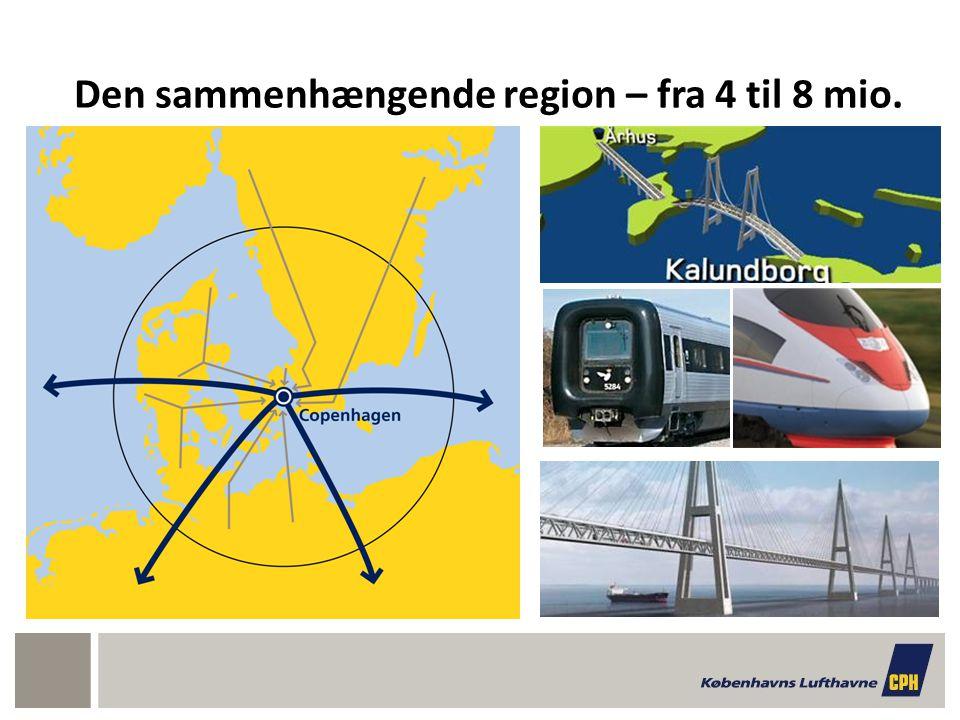 Den sammenhængende region – fra 4 til 8 mio.