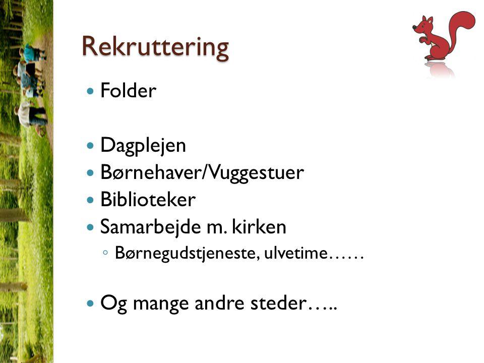 Rekruttering Folder Dagplejen Børnehaver/Vuggestuer Biblioteker Samarbejde m.