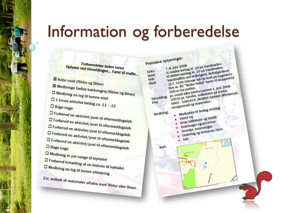 Information og forberedelse