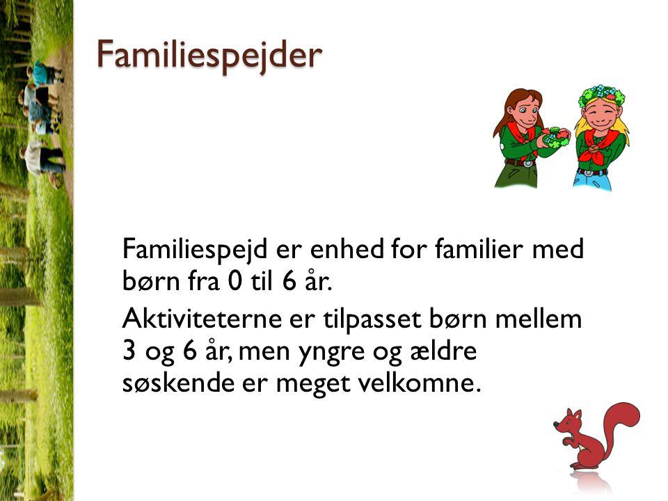 Familiespejder Familiespejd er enhed for familier med børn fra 0 til 6 år.