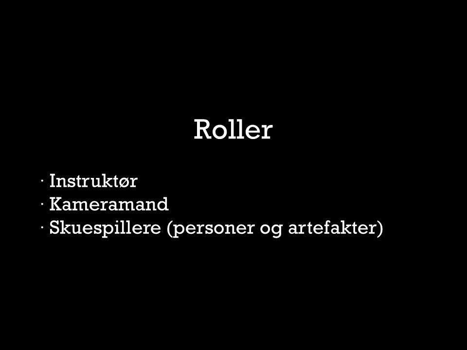 Roller · Instruktør · Kameramand · Skuespillere (personer og artefakter)