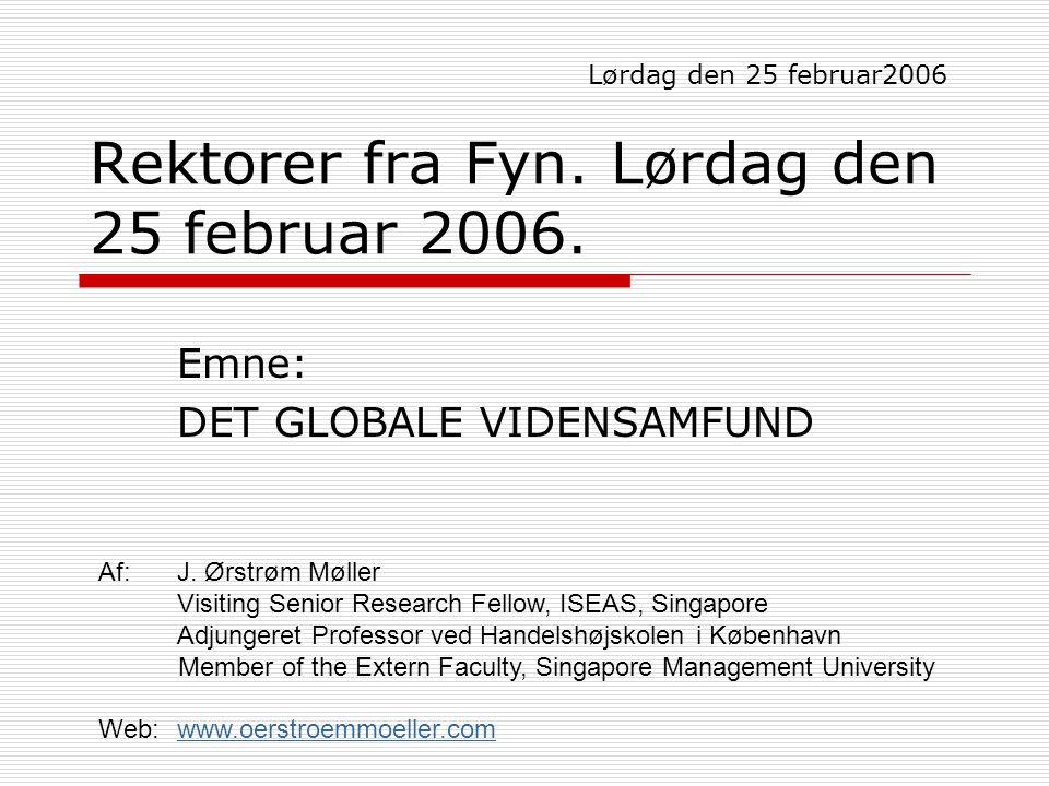 Rektorer fra Fyn. Lørdag den 25 februar 2006.
