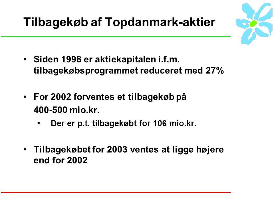 Tilbagekøb af Topdanmark-aktier Siden 1998 er aktiekapitalen i.f.m.