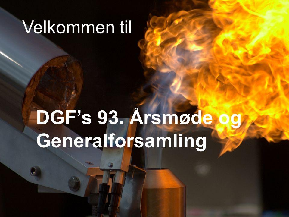 Velkommen til DGF's 93. Årsmøde og Generalforsamling