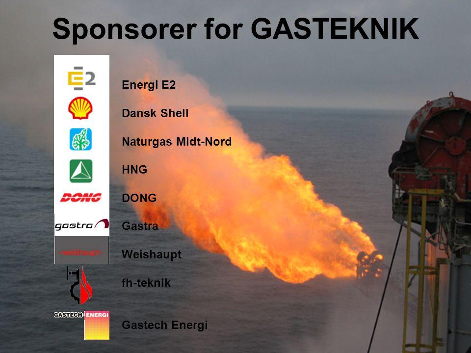 Sponsorer for GASTEKNIK Energi E2 Dansk Shell Naturgas Midt-Nord HNG DONG Gastra Weishaupt fh-teknik Gastech Energi