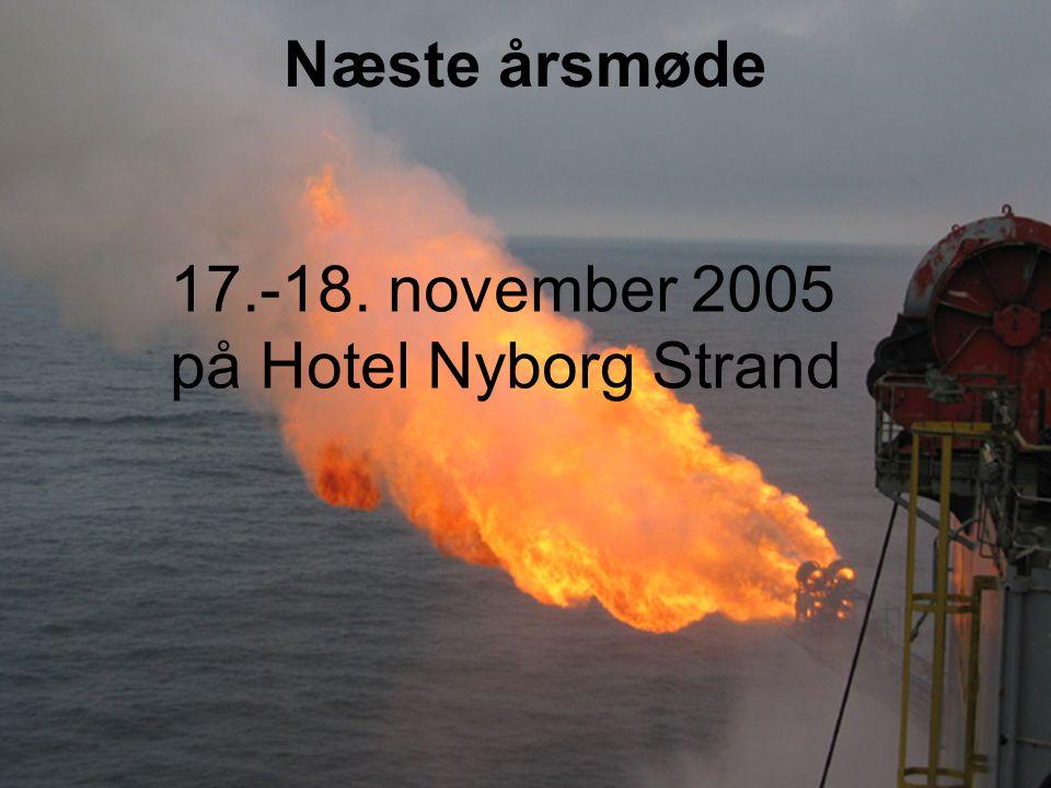 Næste årsmøde 17.-18. november 2005 på Hotel Nyborg Strand