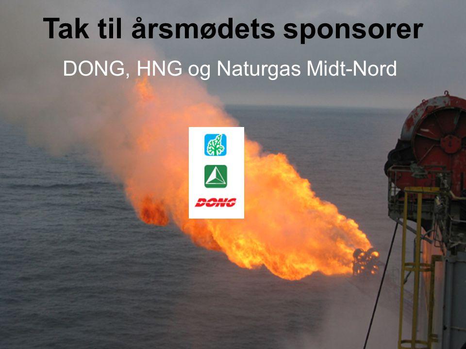 Tak til årsmødets sponsorer DONG, HNG og Naturgas Midt-Nord