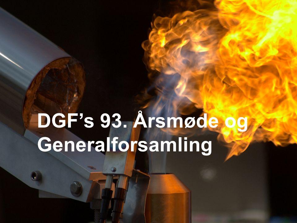 DGF's 93. Årsmøde og Generalforsamling