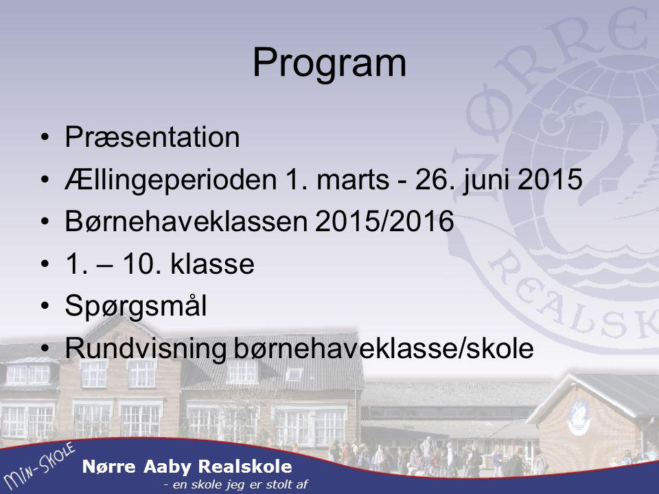 Nørre Aaby Realskole - en skole jeg er stolt af Program Præsentation Ællingeperioden 1.
