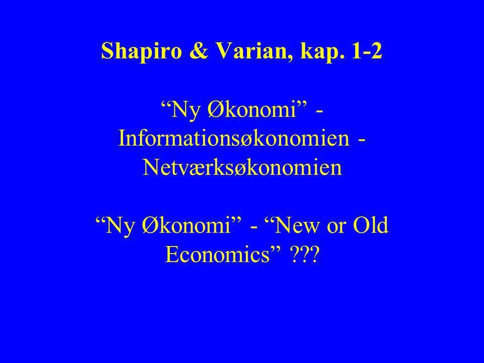 Shapiro & Varian, kap.