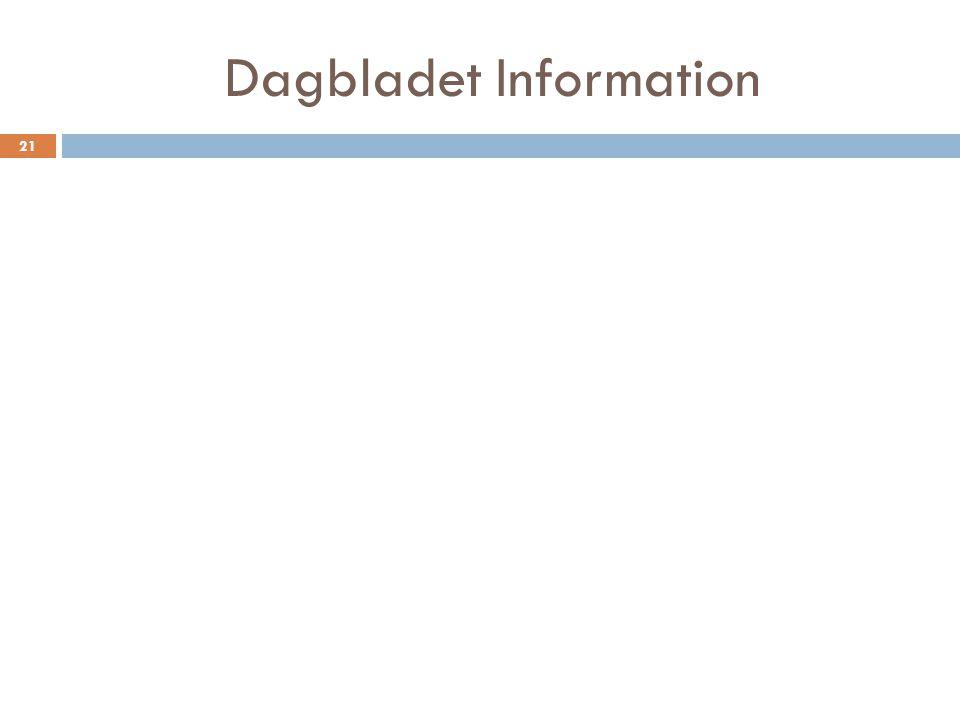 Dagbladet Information 21