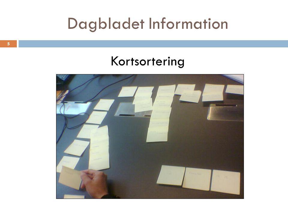 Dagbladet Information Kortsortering 5