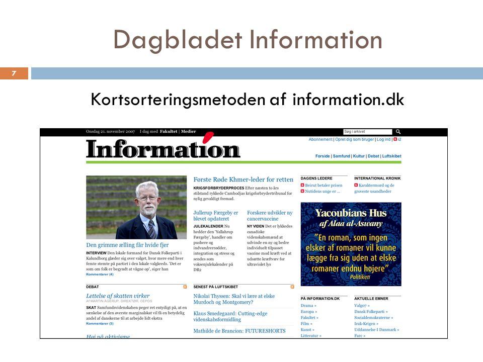 Dagbladet Information Kortsorteringsmetoden af information.dk 7