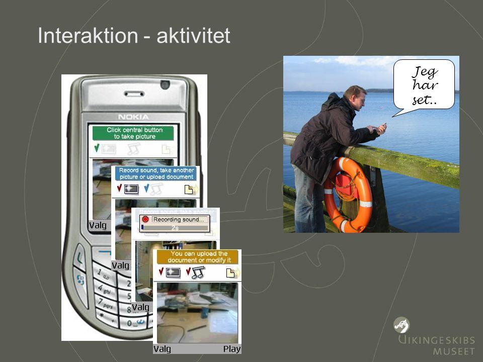Formidling med brugerinddragelse Sted Information Nyt syn på stedet Aktivitet Ejerskab for stedet Jeg har set..