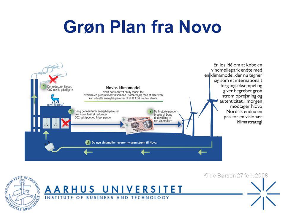 Grøn Plan fra Novo Kilde Børsen 27 feb. 2008