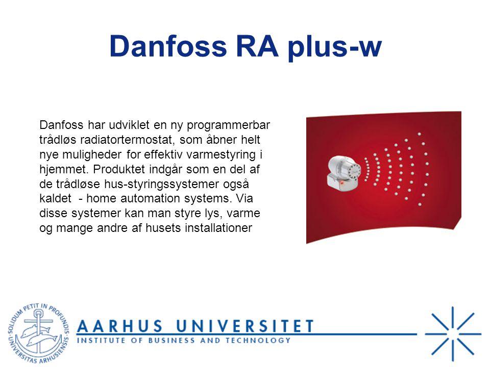 Danfoss RA plus-w Danfoss har udviklet en ny programmerbar trådløs radiatortermostat, som åbner helt nye muligheder for effektiv varmestyring i hjemmet.