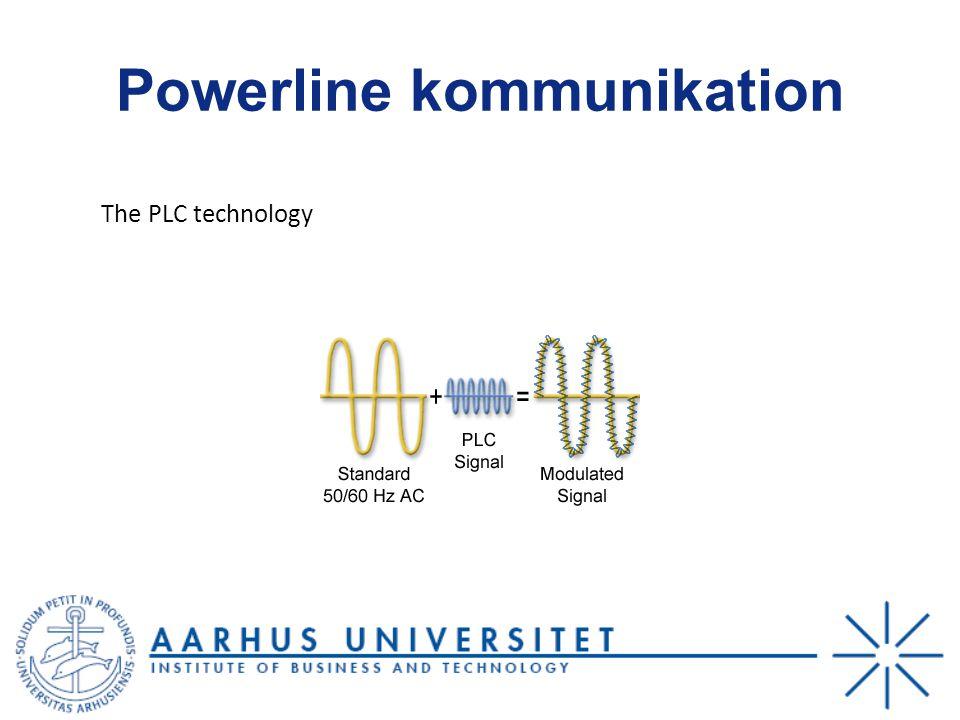 Powerline kommunikation The PLC technology