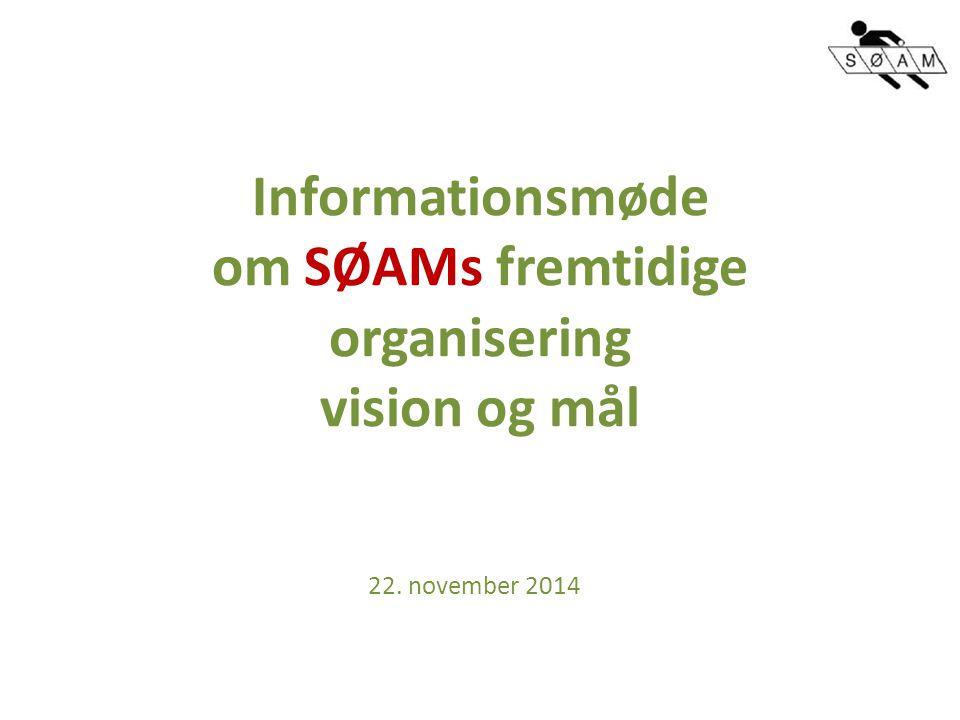 Informationsmøde om SØAMs fremtidige organisering vision og mål 22. november 2014