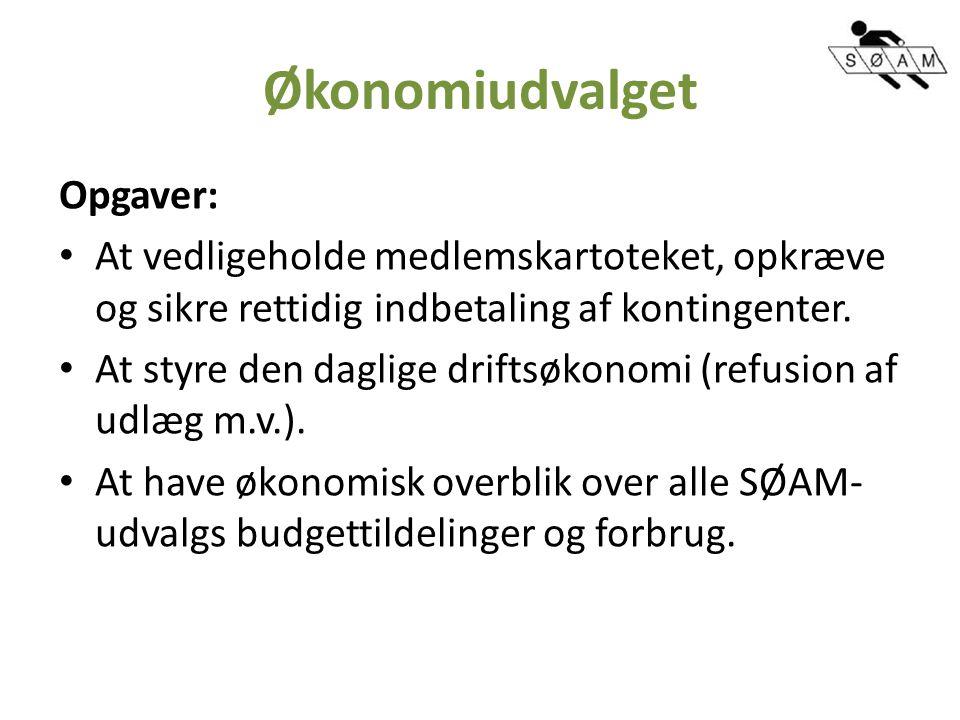 Økonomiudvalget Opgaver: At vedligeholde medlemskartoteket, opkræve og sikre rettidig indbetaling af kontingenter.