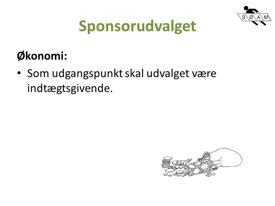Sponsorudvalget Økonomi: Som udgangspunkt skal udvalget være indtægtsgivende.