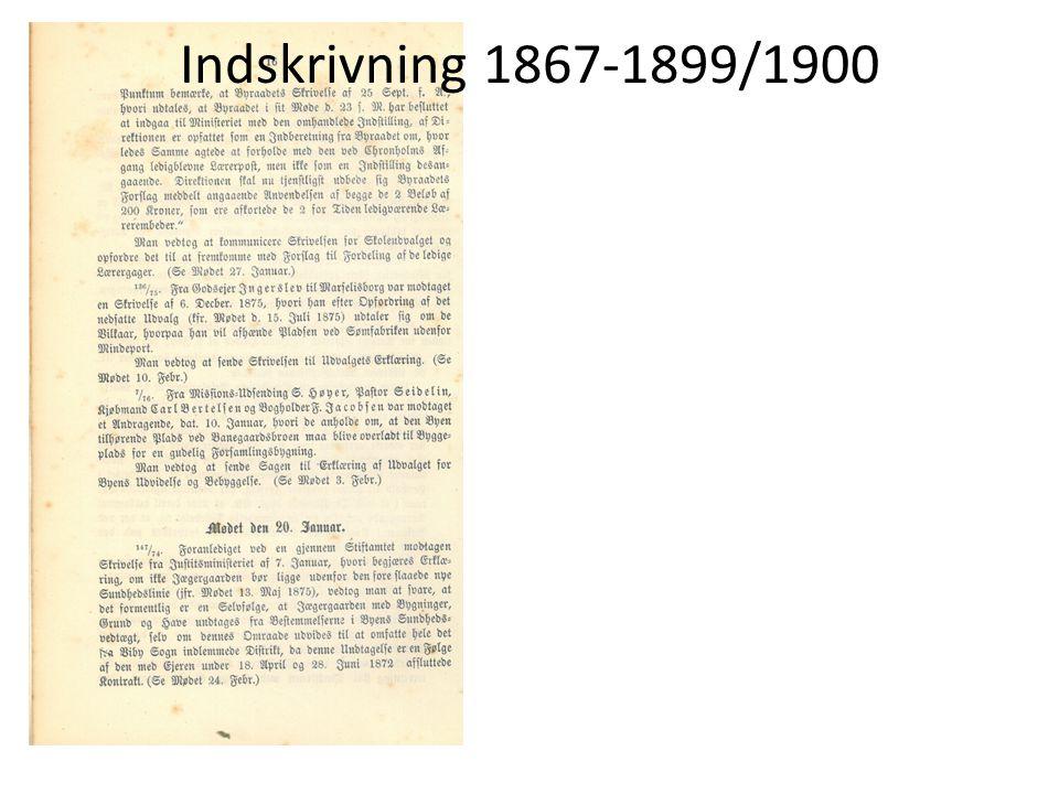 Indskrivning 1867-1899/1900