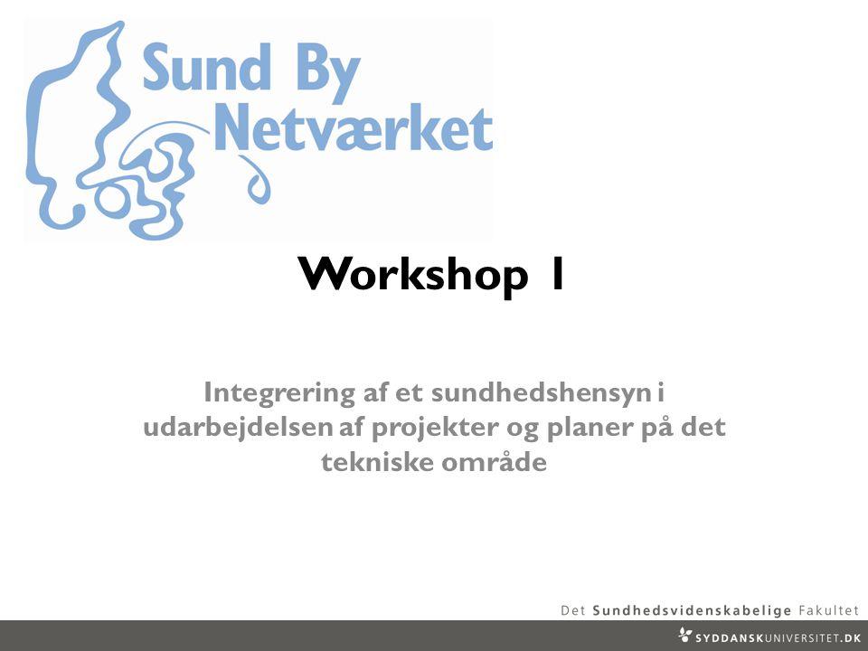 Workshop 1 Integrering af et sundhedshensyn i udarbejdelsen af projekter og planer på det tekniske område