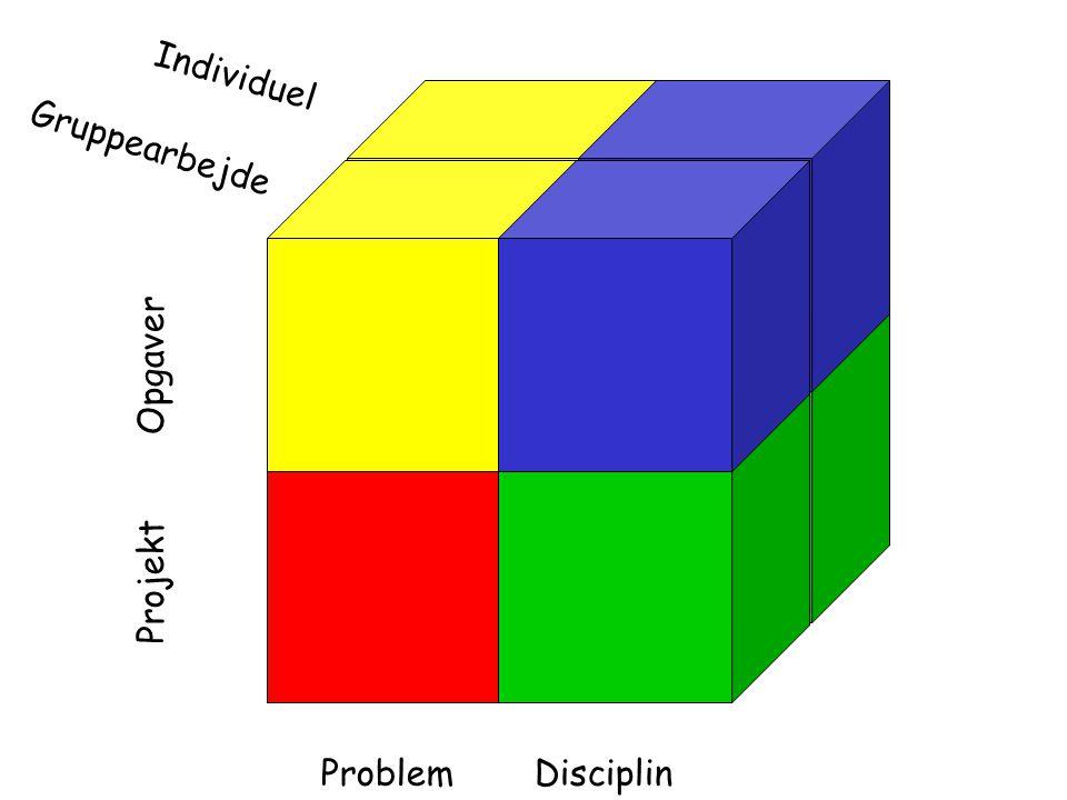 Problemformulering Utilfredshed med en bestående tilstand Ønske om ændring Begrænsninger Modsætning Paradoks Dilemma